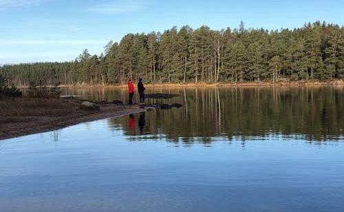 Brynolaiset kalassa Matilda-järvellä