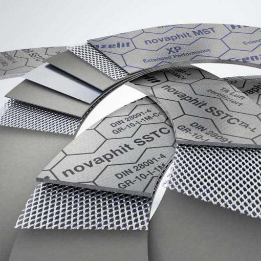 novaphit® -tuoteperhe kattaa valikoiman korkealaatuisia, paisutetusta grafiitista valmistettuja tasotiivistemateriaaleja.