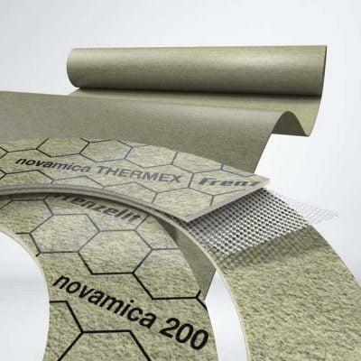 novamica®-materiaalit soveltuvat tiivistekäyttöön, mutta myös eristysmateriaaliksi tai lämpötilankompensointi elementteihin korkeisiin lämpötiloihin.